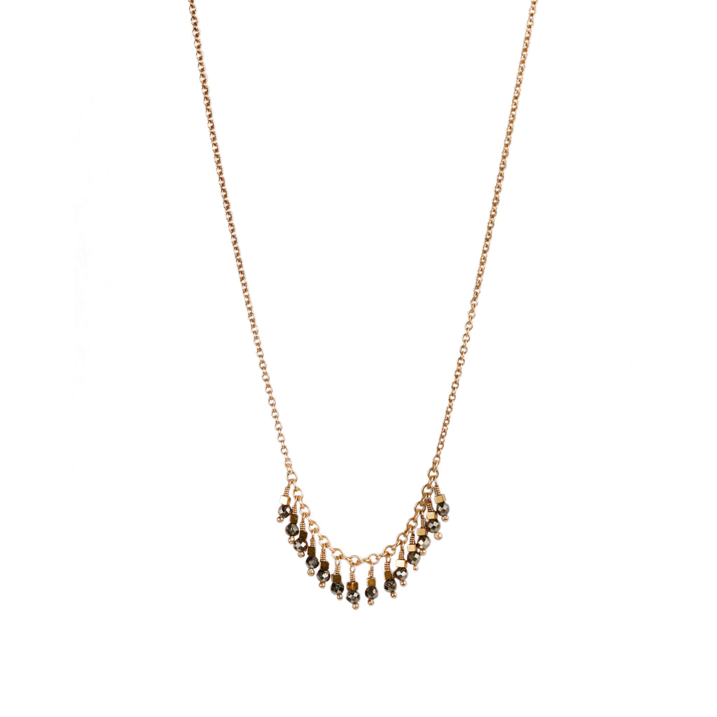 Mim Best gold plated silver bead necklace