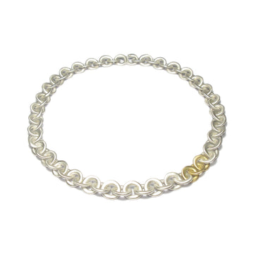 Diana Porter Jewellery contemporary silver gold necklace