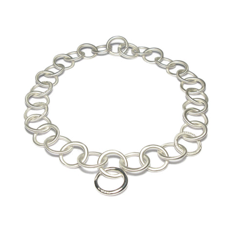 Large Silver Link Necklace