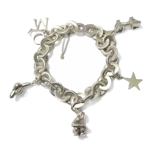 Bespoke - White Gold Charm Bracelet with Bespoke Charms