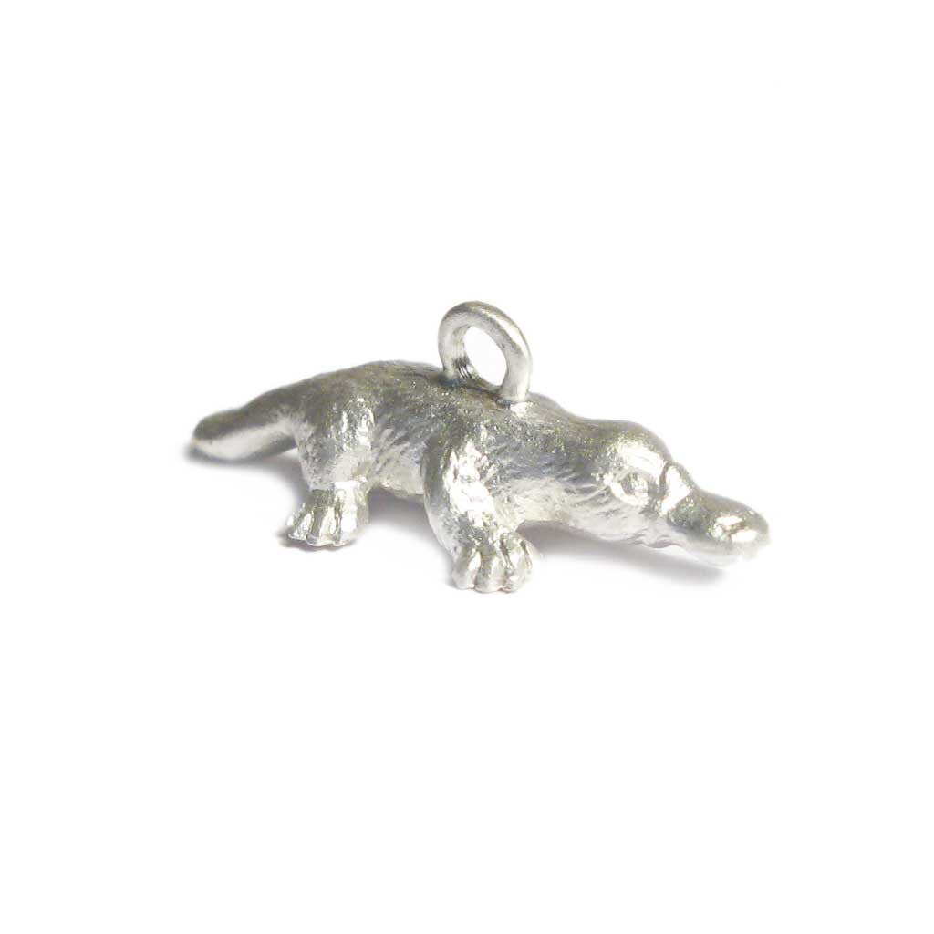 Diana Porter Contemporary Jewellery Bespoke Commission silver platypus charm