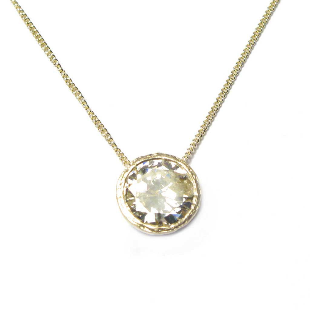 Diana Porter Contemporary Jewellery Bespoke Commission yellow gold diamond necklace