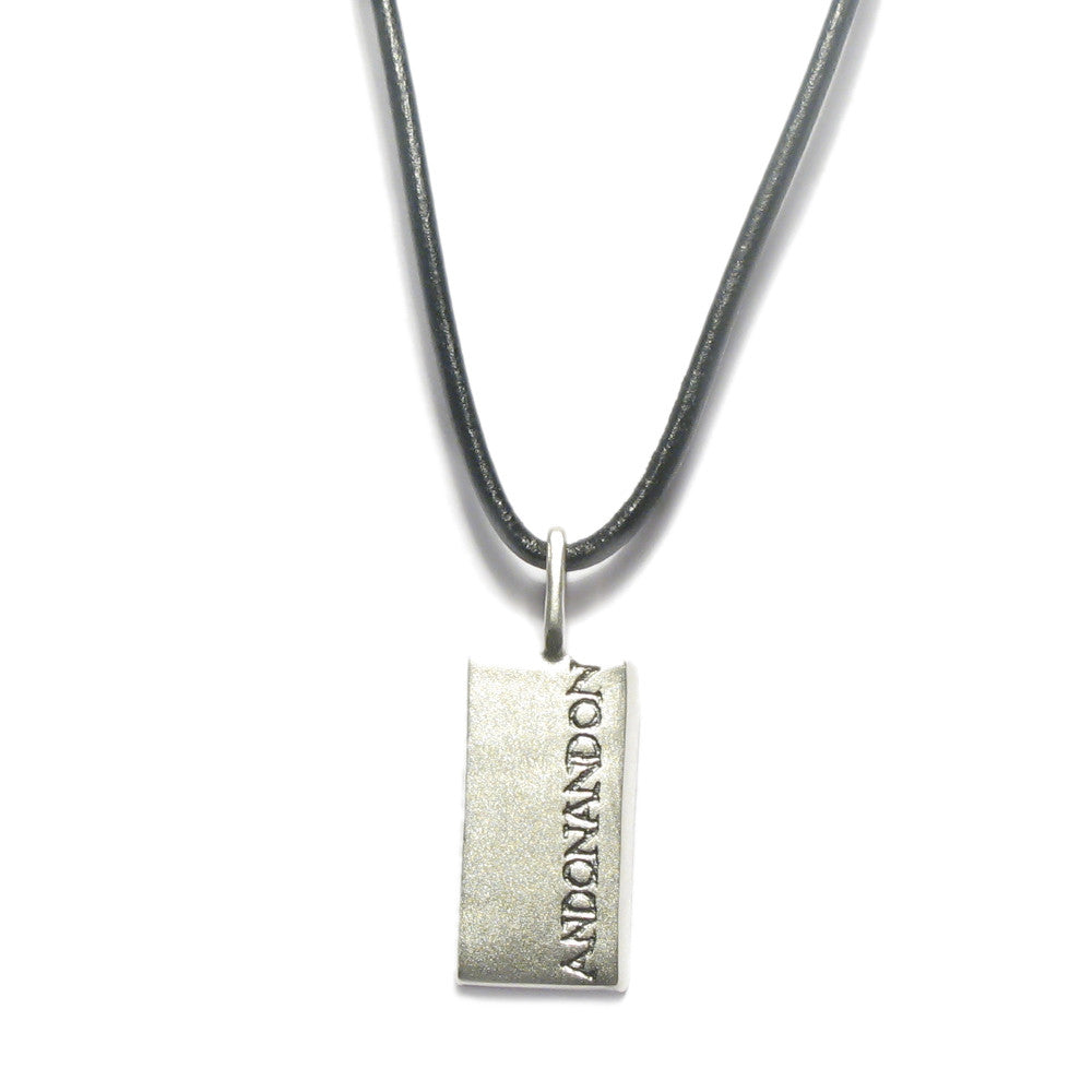 Diana Porter Jewellery contemporary etched mens pendant necklace