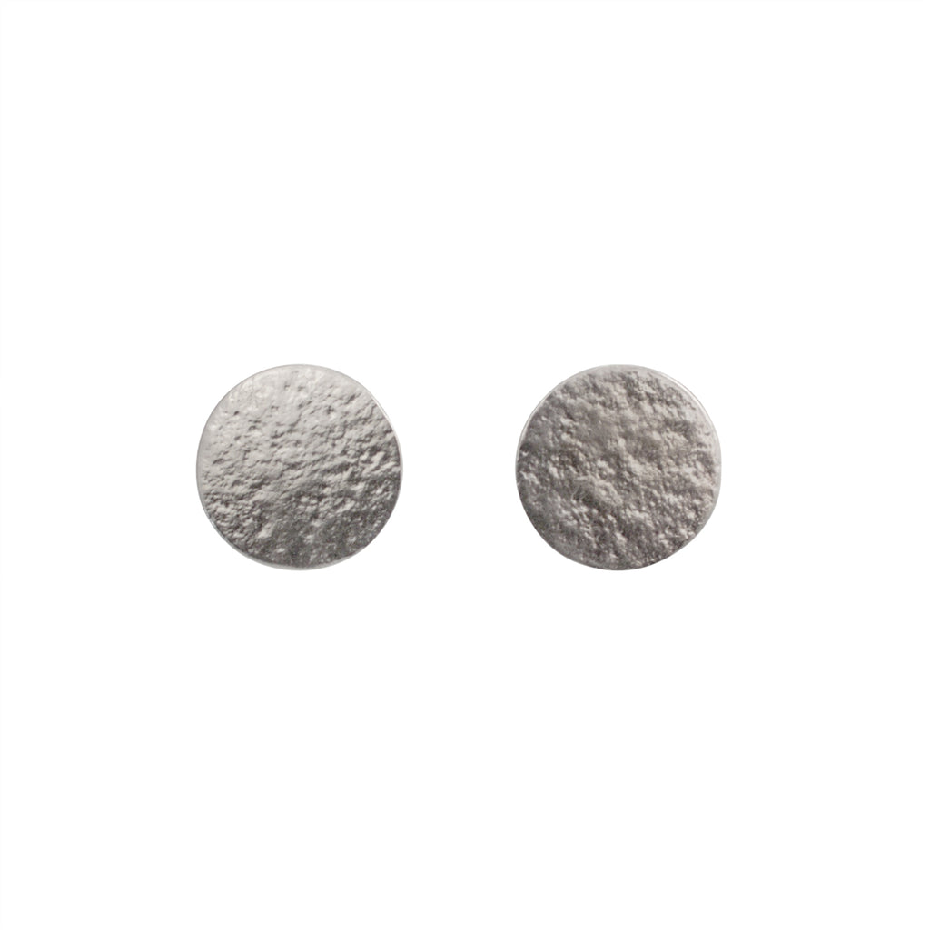 Cara Tonkin Paillette Large Silver Stud Earrings