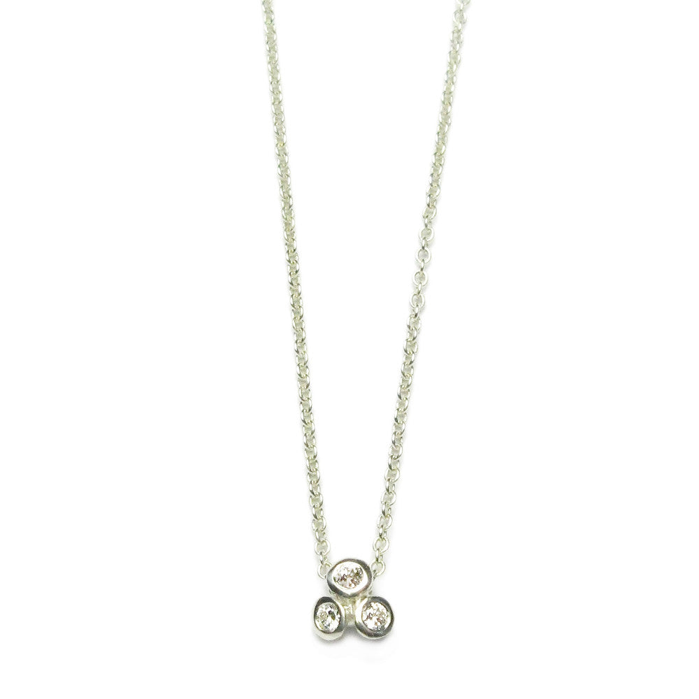 Diana Porter Jewellery contemporary white gold diamond necklace