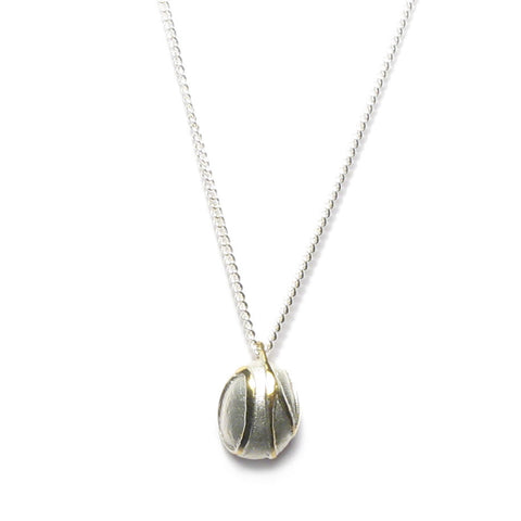 Silver 'ON' Pebble Necklace