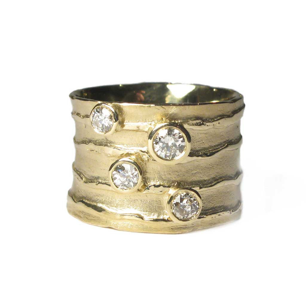 Diana Porter Jewellery bespoke commission recycled gold and diamond ring