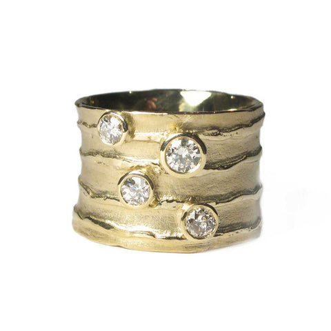 Bespoke - Strata Style Ring using Heirloom Gold and Diamonds