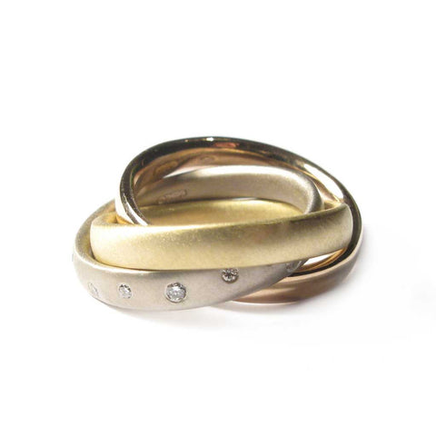 Bespoke - Gold and Diamond Russian Wedding Ring