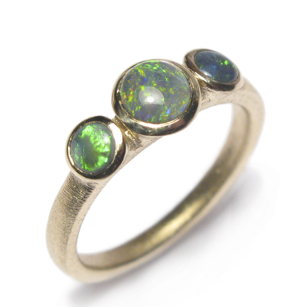 Bespoke - Gold and Opal Trilogy Ring