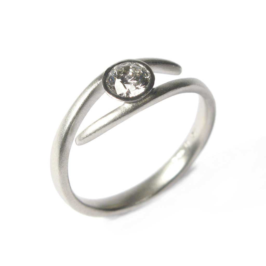 Diana Porter Jewellery bespoke commission platinum and customers own diamond ring
