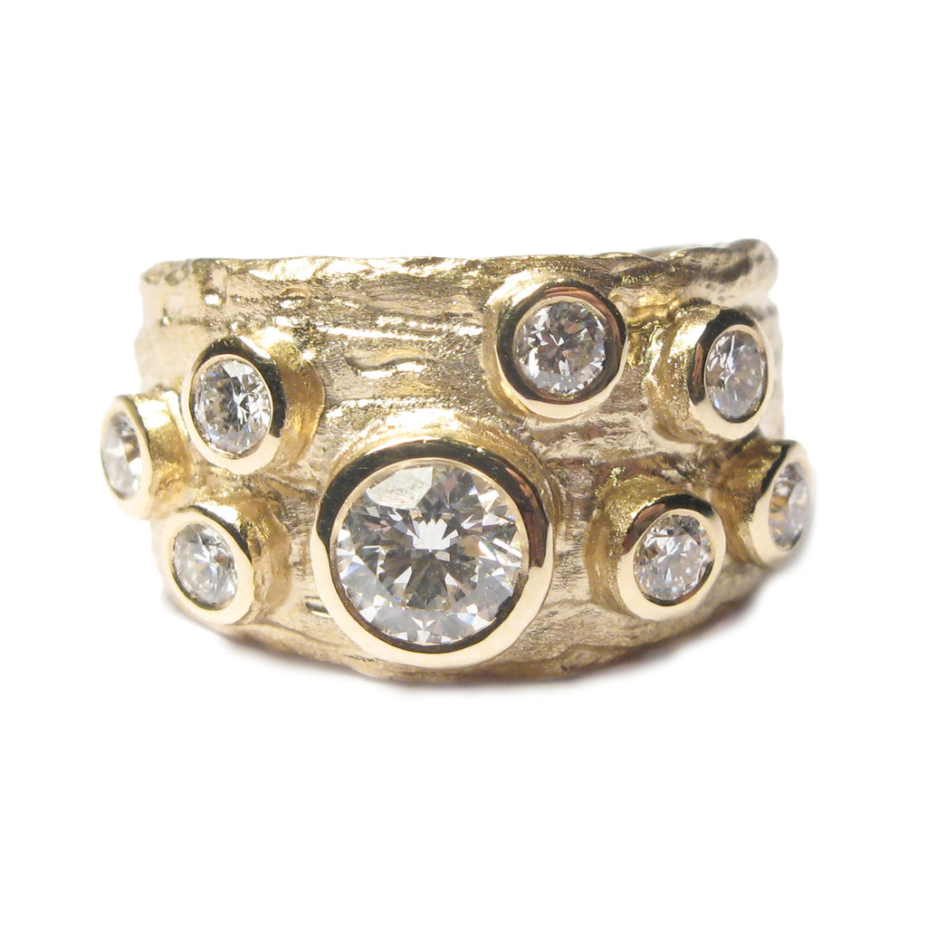 Bespoke - Starta Style Ring using Heirloom Gold and Diamonds
