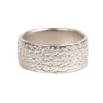 Mid-Width Silver 'Being' Ring