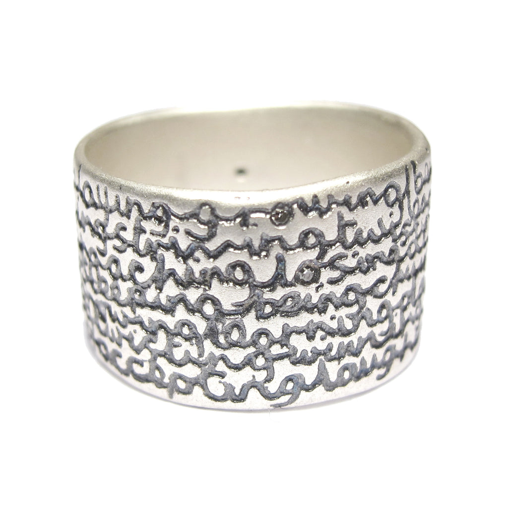 Wide Silver 'Being' Ring