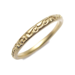 Slim Yellow Gold 'on and on' Ring