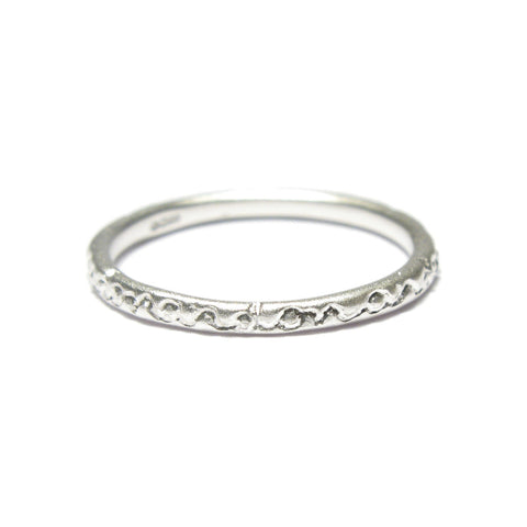 Slim Silver 'on and on' Ring