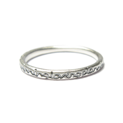 Slim Silver 'loving...' Ring