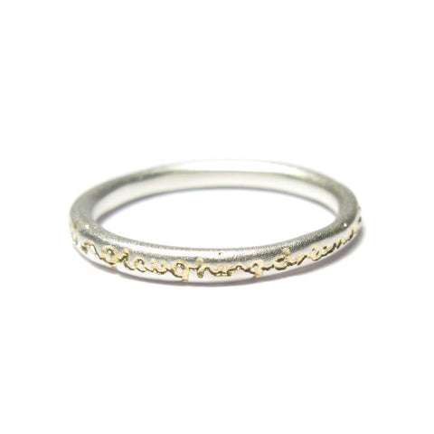 Slim Silver 'dreaming…' Ring