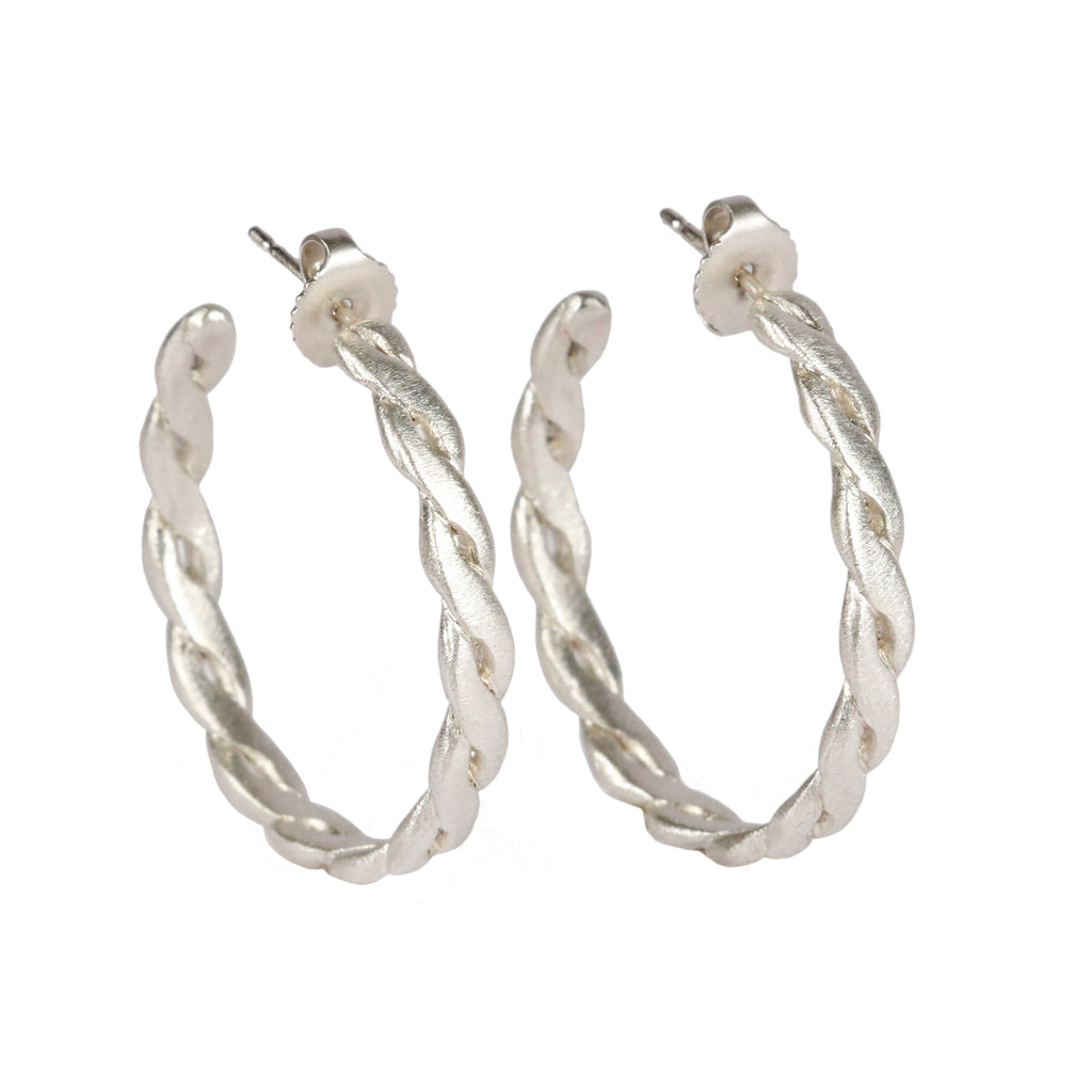 Rosalyn Faith silver twist hoops