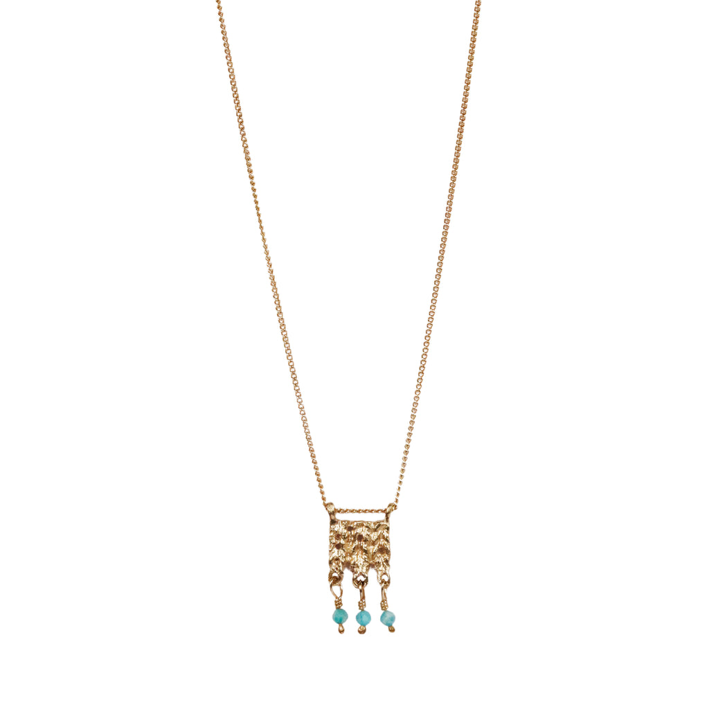 Rosalyn Faith gold plated silver amazonite necklace