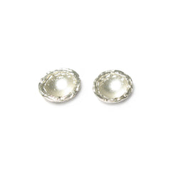 Diana Porter Jewellery contemporary etched silver stud earrings