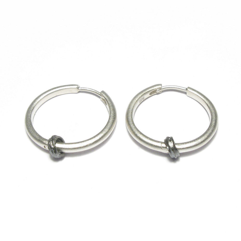 Diana Porter Jewellery contemporary etched silver hoop earrings