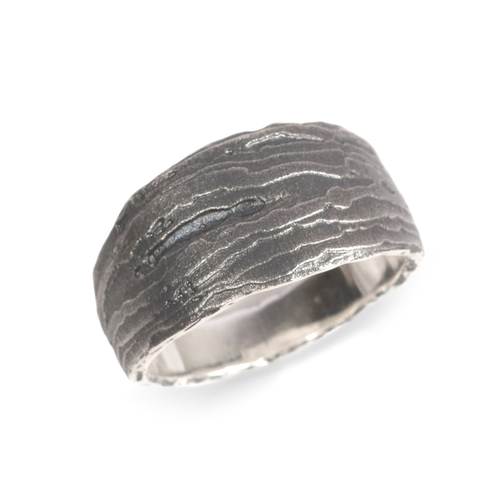 Silver Tapered 'Strata' Ring