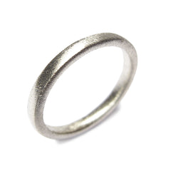 18ct White Gold Plain Ring