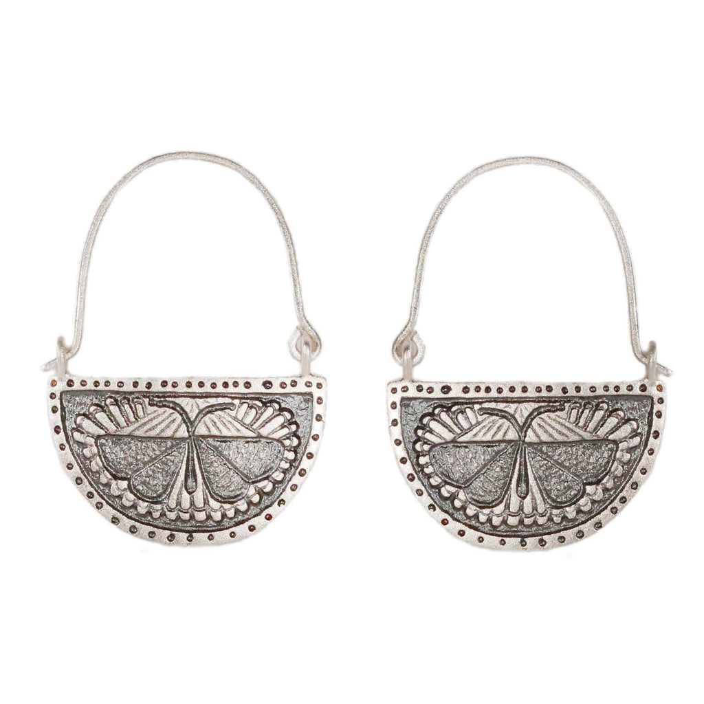 Sophie Milner Silver Moth Earrings