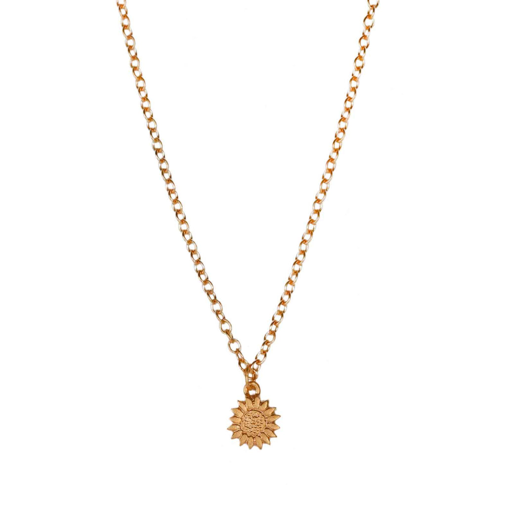 Sophie Milner Gold-plated Silver Sunflower Pendant