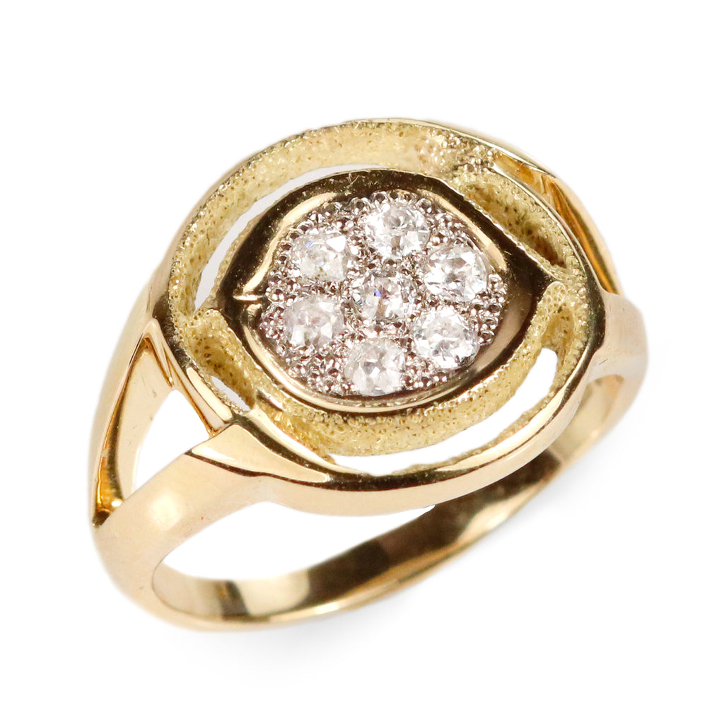 Tiptoe Jewellery's 'The Way' Cluster Halo Ring