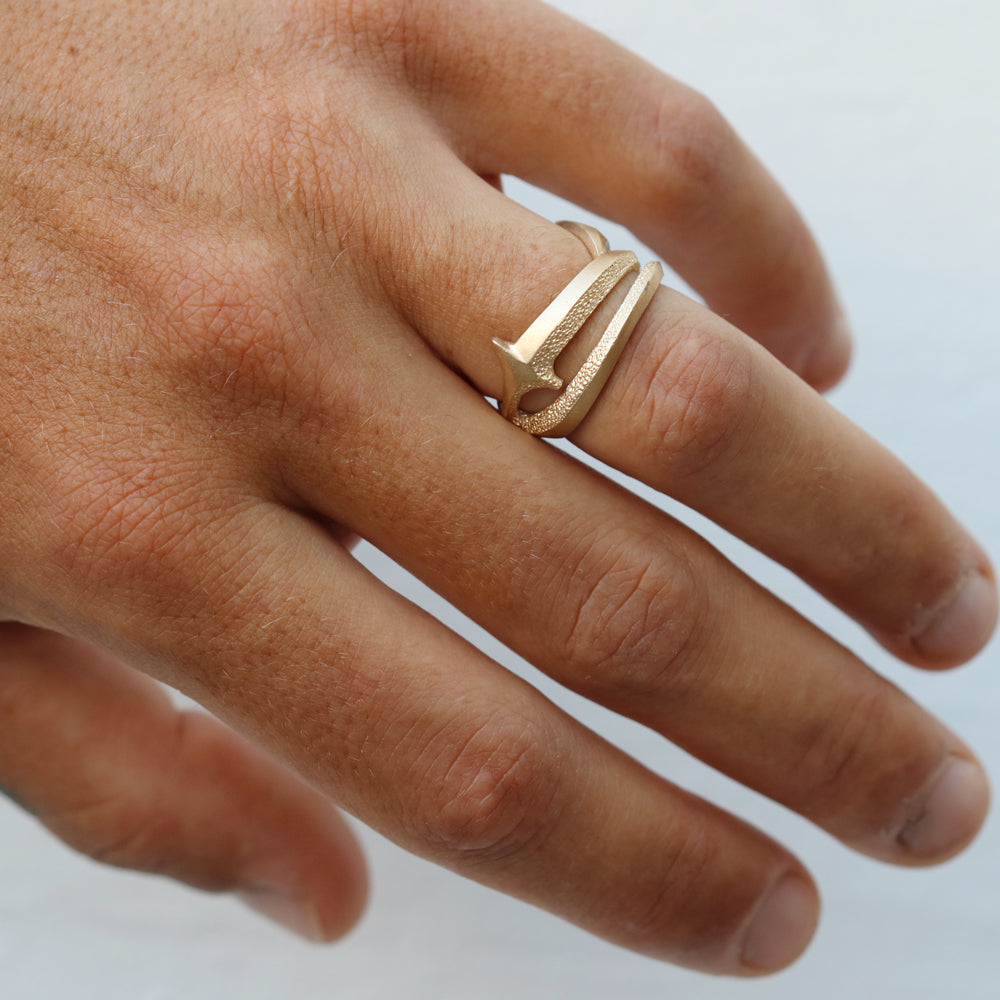 Tiptoe Jewellery's 'The Way' Wide Ring