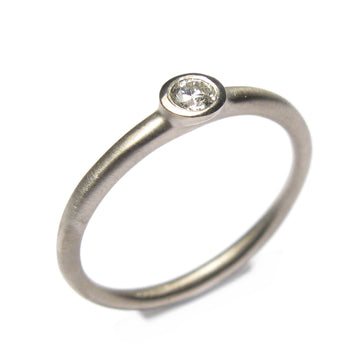 Diana Porter Jewellery contemporary diamond white gold ring