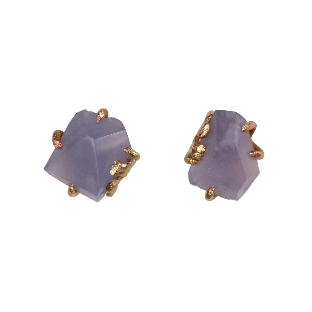 Variance Objects Chalcedony Ear studs