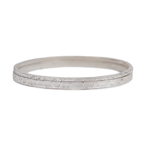 Silver 'Wisdom Of Life' Partnership Bangle