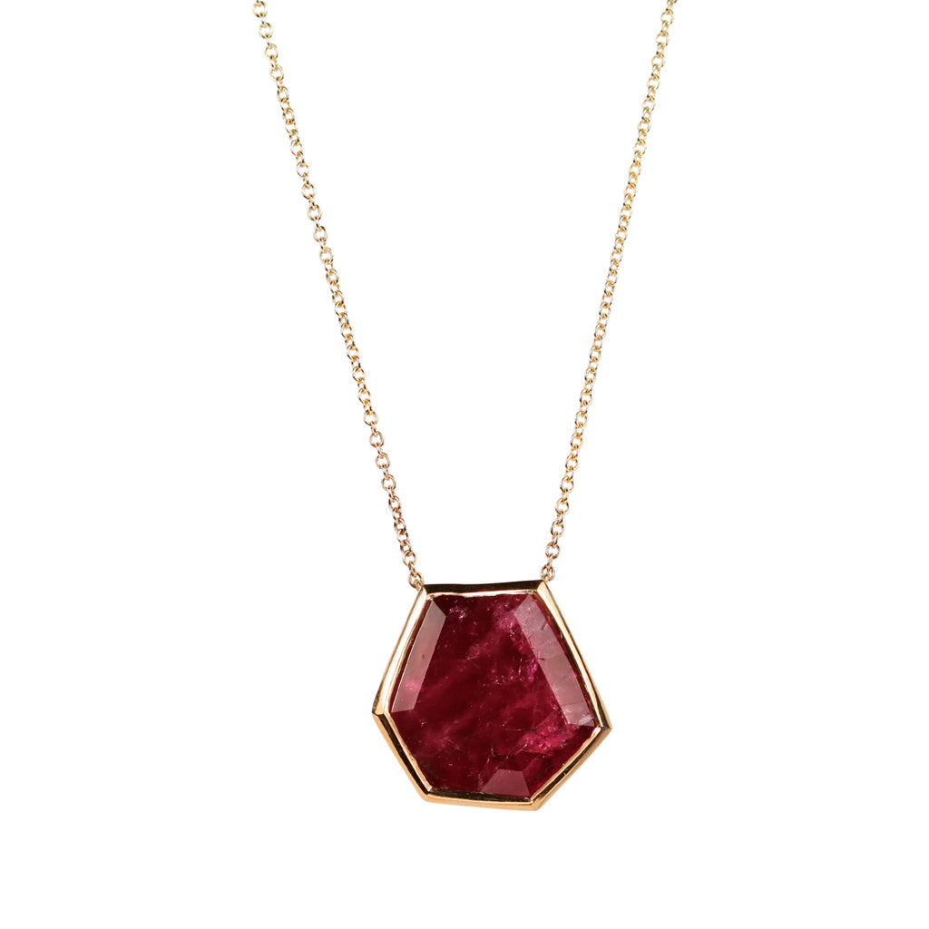 SOLD - Fair Mind 9ct Yellow Gold 'One-Of-Kind' Necklace with 12.54ct Malawi Ruby