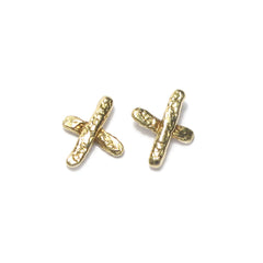 Diana Porter Jewellery contemporary yellow gold kiss stud earrings