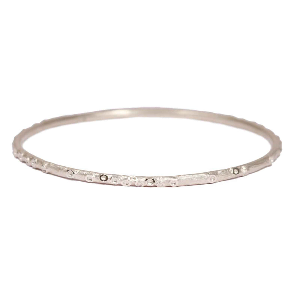 Zoya Dickinson Silver Caldera Bangle