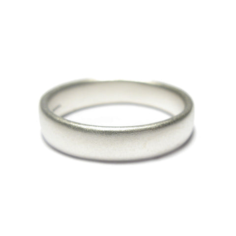 Plain Silver Undulating Ring