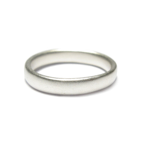 Plain Silver Narrow Ring
