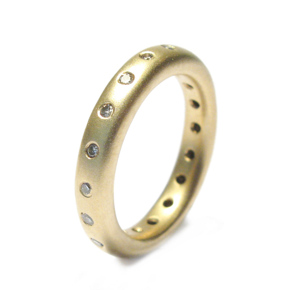 Diana Porter yellow gold eternity diamond ring
