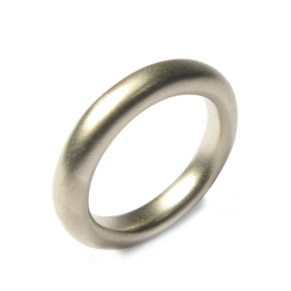 Diana Porter plain white gold wedding ring