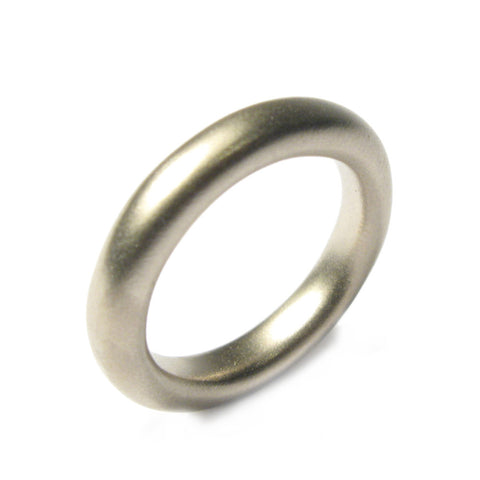 Rounded 18ct White Gold Ring