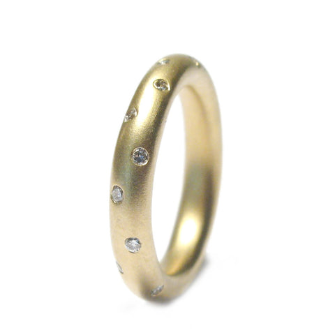 18ct Yellow Gold Eternity Ring with Scattered Diamonds