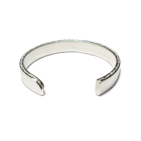 Silver 'on and on' Cuff Bangle