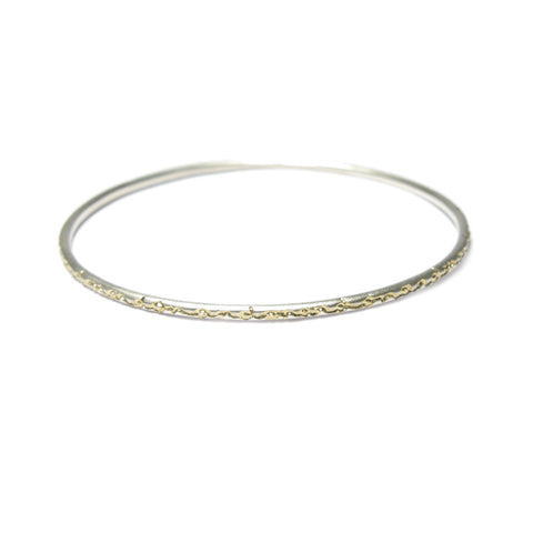 Narrow Silver 'on and on' Bangle