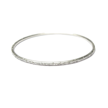 Diana Porter etched being silver thin bangle