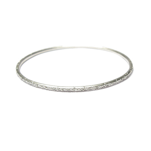 Narrow Silver Being Bangle