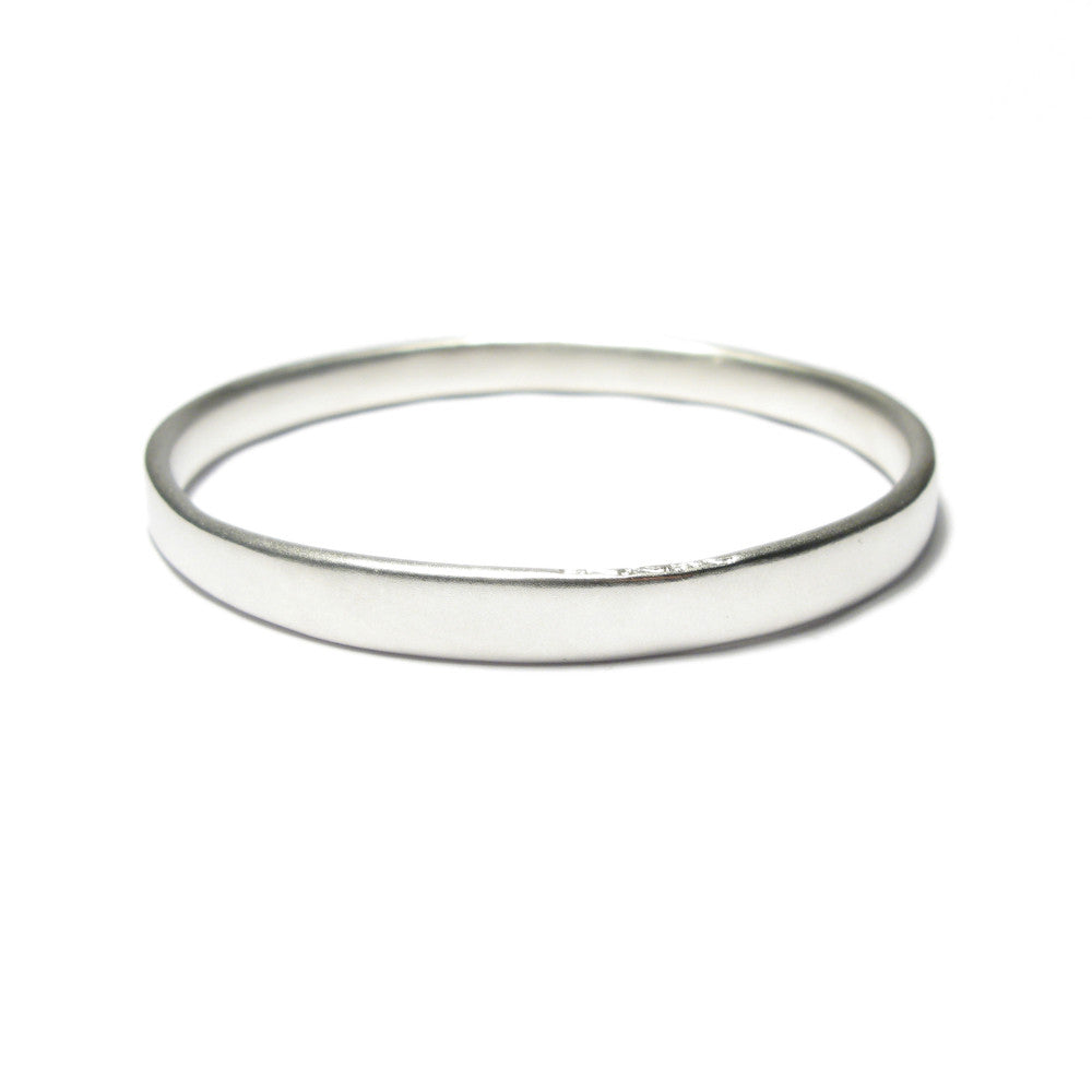 Diana Porter chunky silver bangle