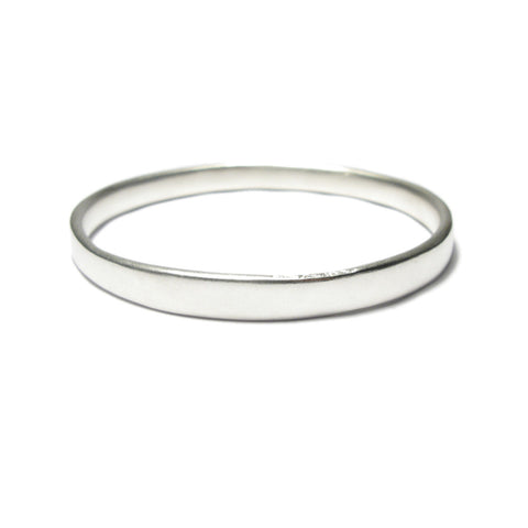 Chunky Plain Silver Bangle
